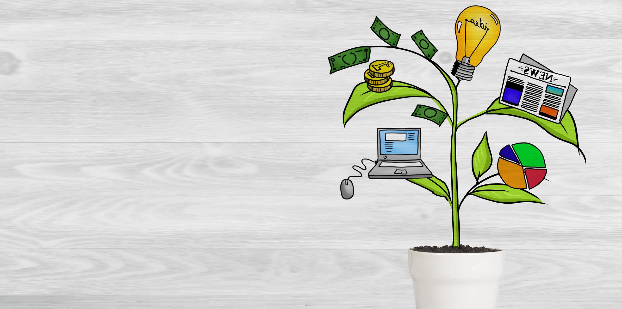 Idee, informazione e tecnologia contribuiscono al successo di un business plan