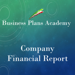 Company financial report, business intelligence